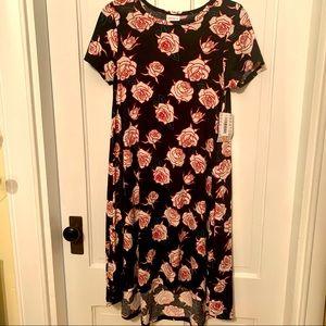 Lularoe 🌹 Carly dress size xs rose pattern NWT